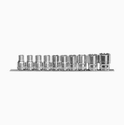 "SOCKET SET 1/2"" DR 10PCS"