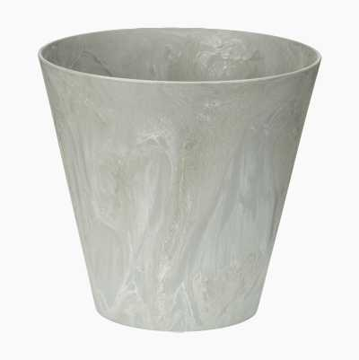 FLOWERPOT PLASTIC 20CM GREY