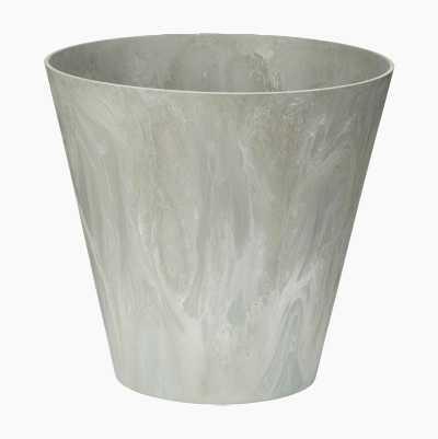 FLOWERPOT PLASTIC 30CM GREY