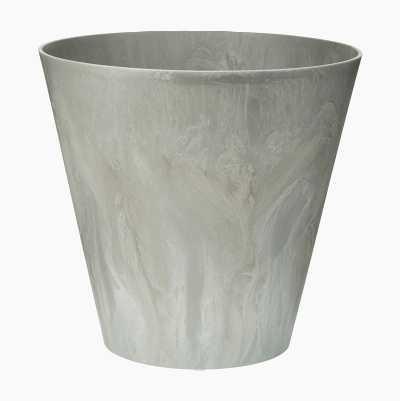 FLOWERPOT PLASTIC 40CM GREY