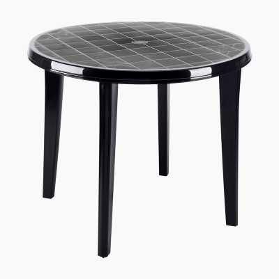 ROUND PLASTIC GARDEN TABLE
