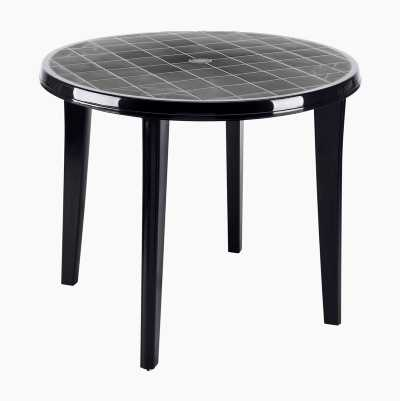 ROUND PLASTIC GARDEN TABLE