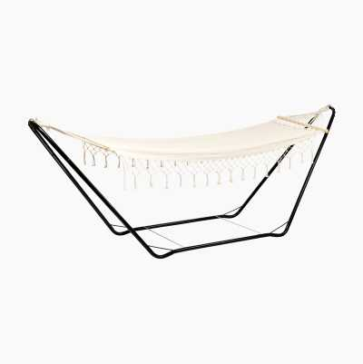 HAMMOCK WHITE W WOOD