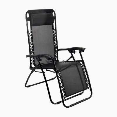 SUNBATHING CHAIR BLACK