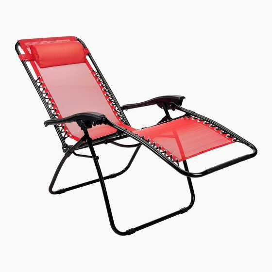 SUNBATHING CHAIR RED