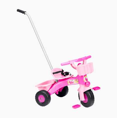 PLASTIC TRICYCLE W HANDLE PINK