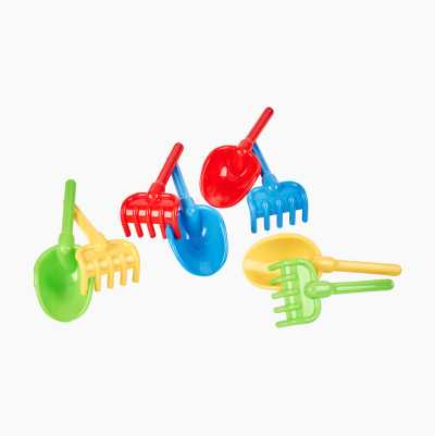 PLASTIC SHOVEL AND RAKE SET