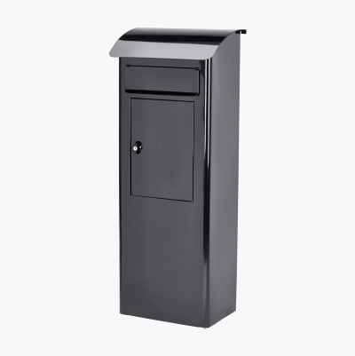 GROUND MAILBOX BLACK
