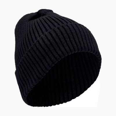 RIBBED HAT BLACK