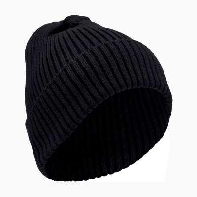 RIBBED HAT BLACK