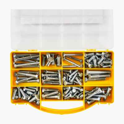 144PC HEX BOLT SET (UNC)