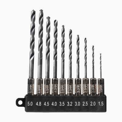 DRILL SET HEX 10PCS