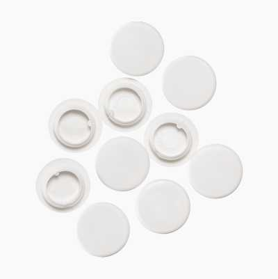 COVER CAP WHITE PLASTIC