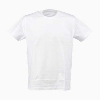 T-SHIRT COMBED WHITE L