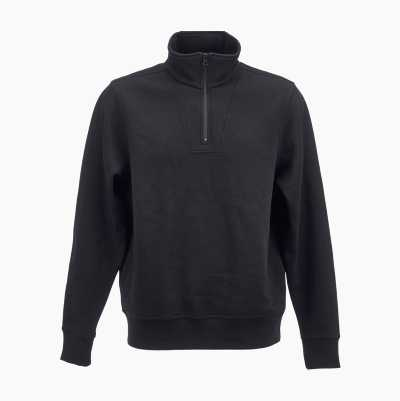 HALF-ZIP SWEATSHIRT BLACK S