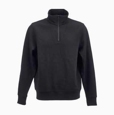 HALF-ZIP SWEATSHIRT BLACK XL