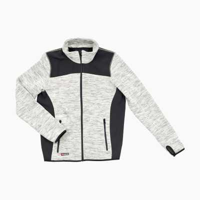 KNITTED FLEECE GREY S