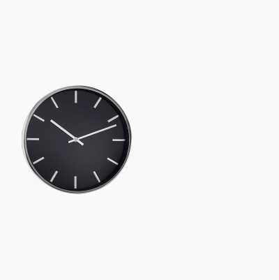 WALL CLOCK EXCLUSIVE BLACK