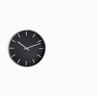 WALL CLOCK EXCLUSIVE BLACK