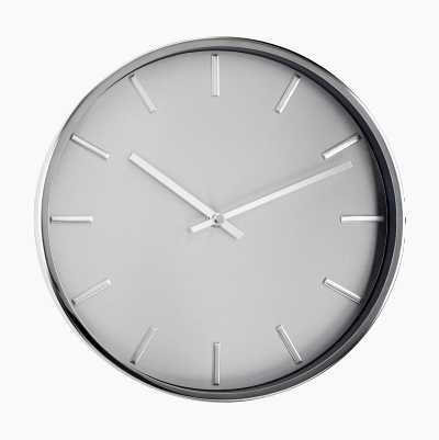 WALL CLOCK EXCLUSIVE SILVER