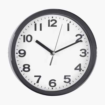 WALL CLOCK METAL GREY
