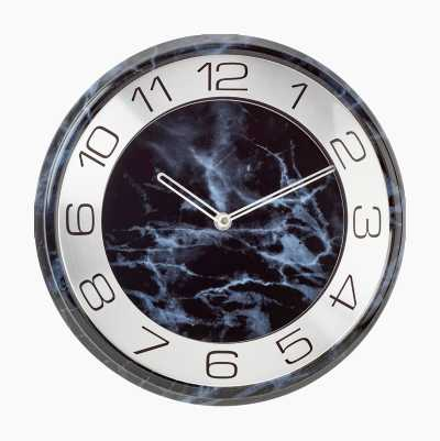 WALL CLOCK BLACK MARBLE