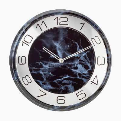 WALL CLOCK BLACK MARBLE