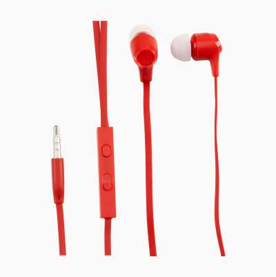 HEADSET INEAR XTRA BASS RED