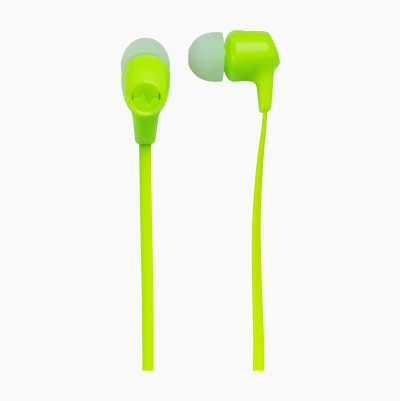 HEADSET INEAR XTRA BASS GREEN