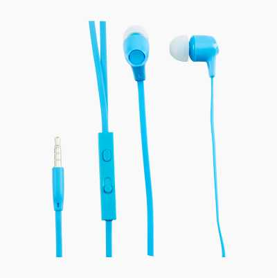 HEADSET INEAR XTRA BASS BLUE