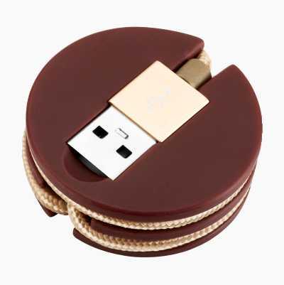 USB-LADE-/SYNC-LEDNING MED LIG