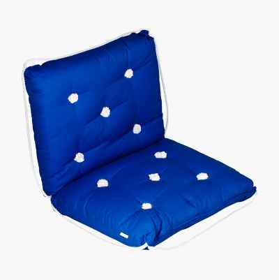 KAPOK CUSHION DOUBLE BLUE