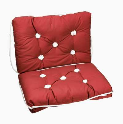 KAPOK CUSHION DOUBLE RED