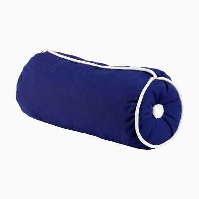 KAPOK CUSHION CYLINDER BLUE