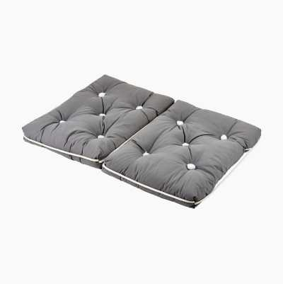 KAPOK CUSHION DOUBLE GRAY
