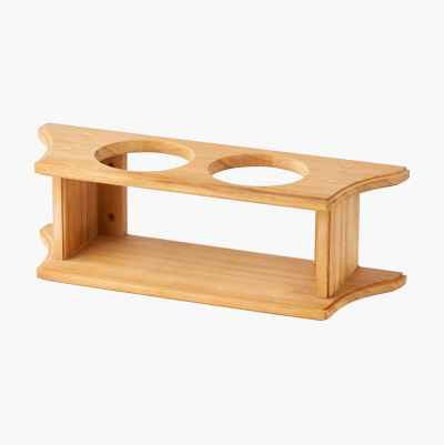 GLASS HOLDER 2-GLASS TEAK