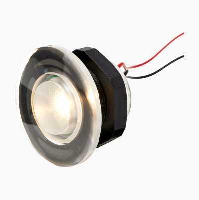 RUND LED-BELYSNING HVITT LYS