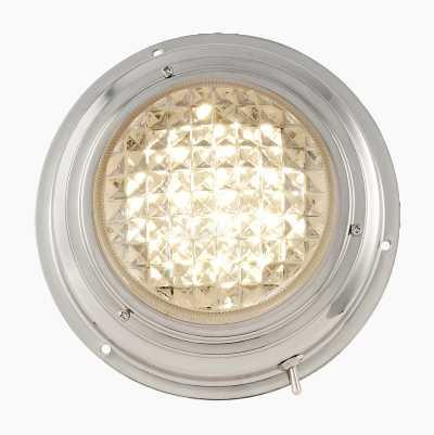 ROSTFRI TAKLAMPA 12V LED