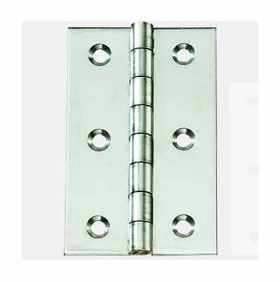SS HINGE 80X50MM 2PACK
