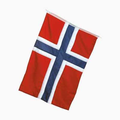 Vinterjacka med norsk flagga