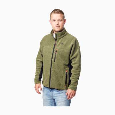 STRIPE FLEECE GREEN S