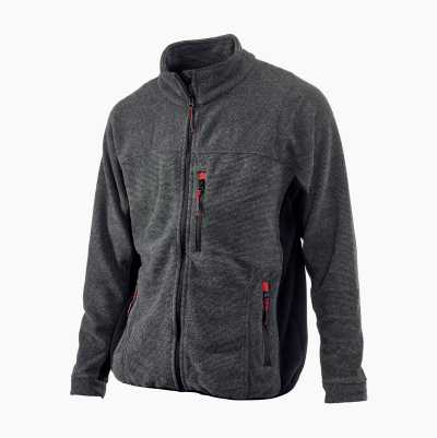 STRIPE FLEECE BLACK M