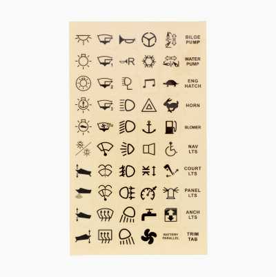 STICKER MAP 60PCS