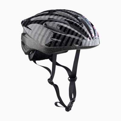 BICYCLE HELMET JR BLACK/PINK S
