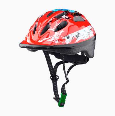 BICYCLE HELMET KID RED M