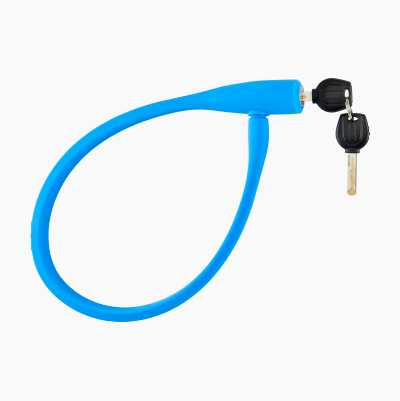 SILICONE CABLE LOCK BLUE