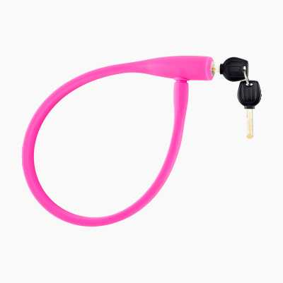 SILICONE CABLE LOCK PINK