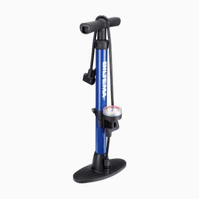 HAND FLOOR PUMP BLUE WITH LOGO