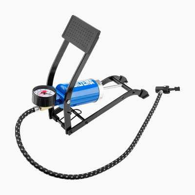 FOOT PUMP BLUE WITH LOGO