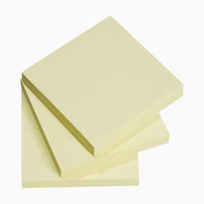 NOTESBLOK 75X75MM 3STK